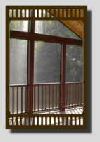 Screen in porch with covered deck.