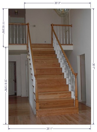 Superbe Refinished Stairs And Hand Rails With Balusters
